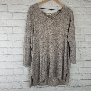 Olivia Rae|  Long Sleeve Beige with Marbled Gray